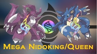 Pokemon-Mega Nodoking and Nidoqueen | Omega Ruby And Alpha Sapphire [Fan Made]