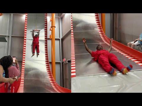 Acrophobic-Man-Conquers-Fears-On-Unique-Steep-Slide