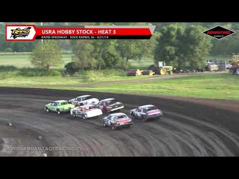 Hobby Stock Heats - Rapid Speedway - 6/21/19