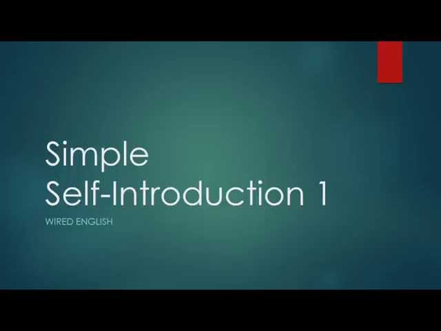 self introduction 2 Preparing your self introduction 2 - an example - jet programme so, i just finished doing some little updates to the powerpoint presentation that is my introduction my high school has just received this years new students, and the new school year is just kicking off.
