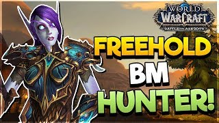 Freehold DUNGEON as BM HUNTER! - Battle for AZEROTH ALPHA*