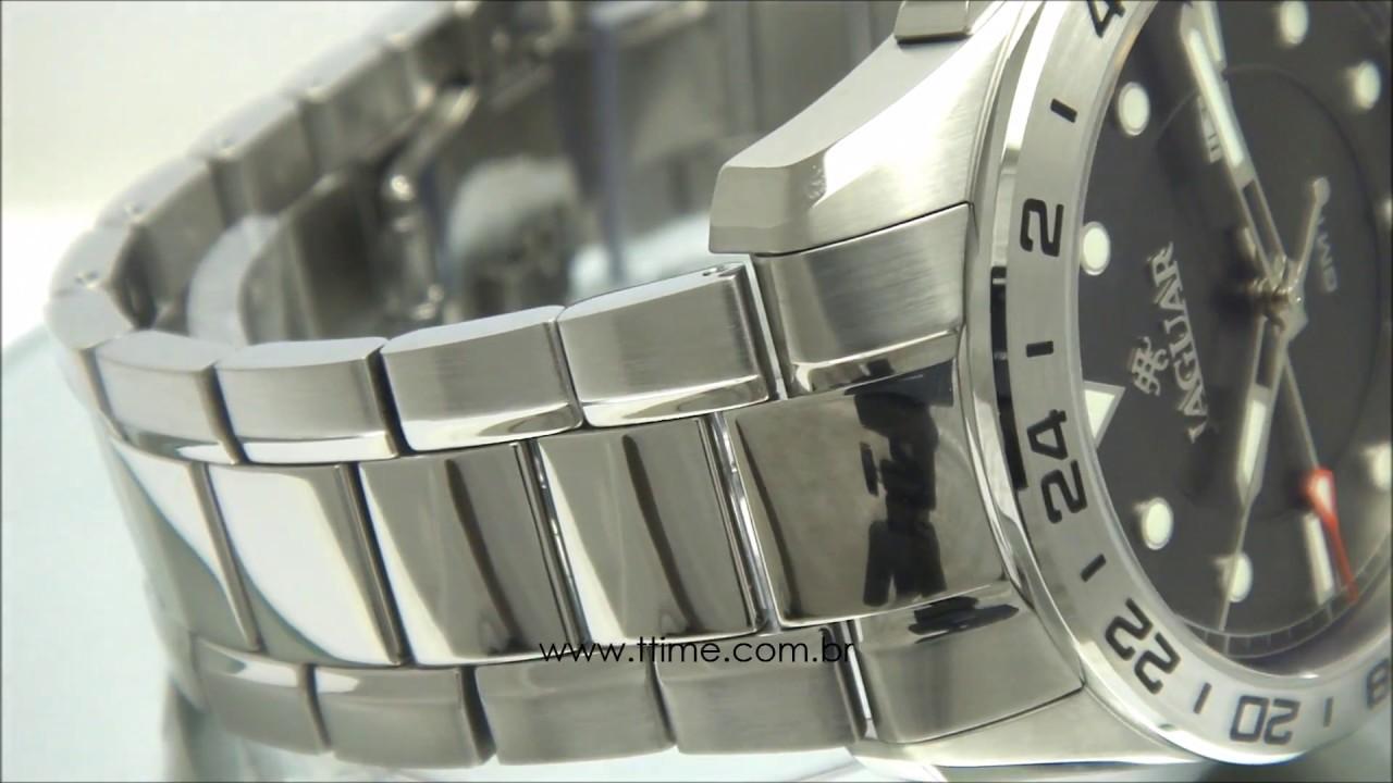 80eae4e93cf RELÓGIO JAGUAR SWISS MADE GMT J011ASS01 G1SX - YouTube