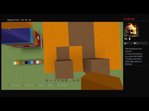Minecraft Crash Bandicoot Statue and plushie tutorial