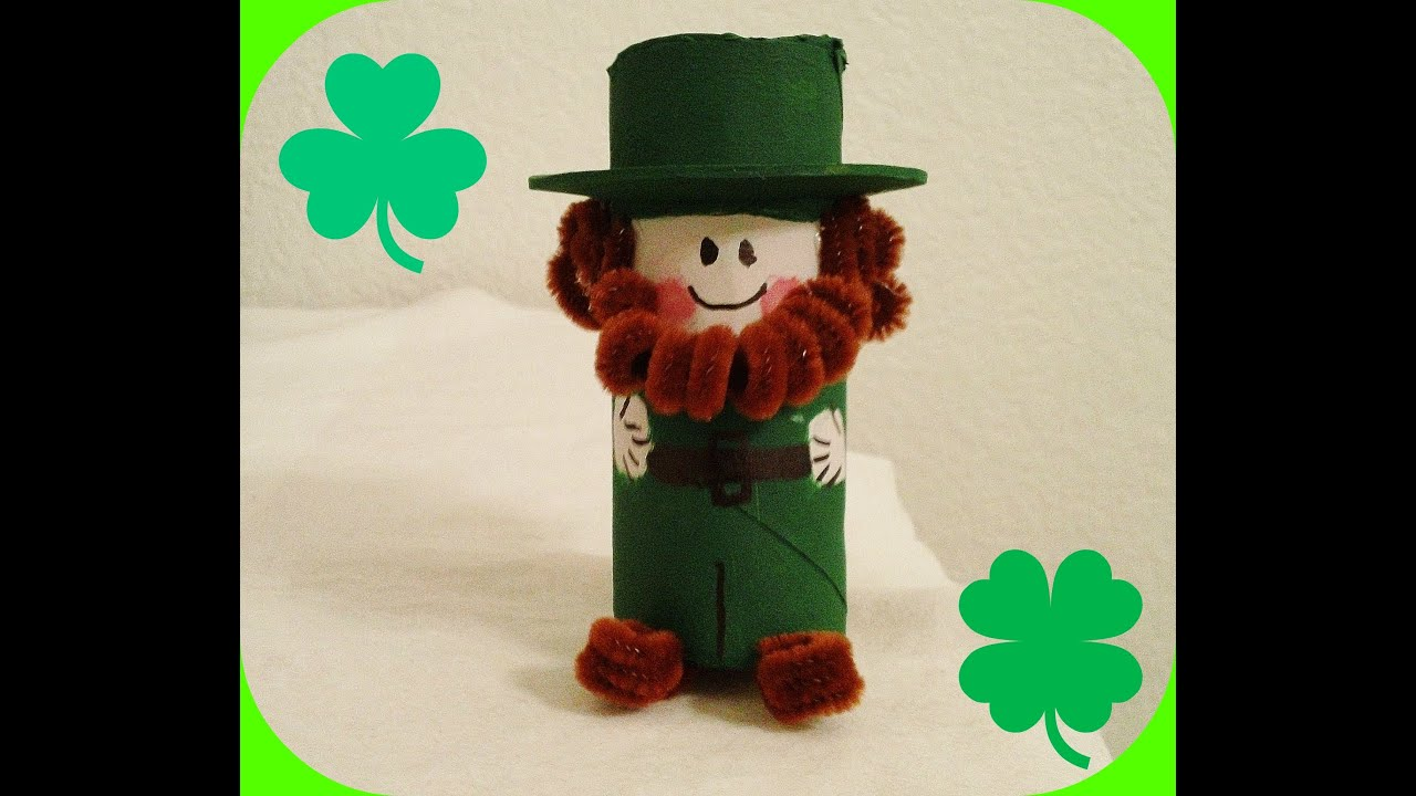St Patricks Day Crafts Part - 49: *St. Patricku0027s Day Crafts* Cutest Paper Roll Leprechaun! - YouTube
