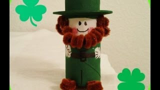 *St. Patrick's Day Crafts* Cutest Paper Roll Leprechaun!