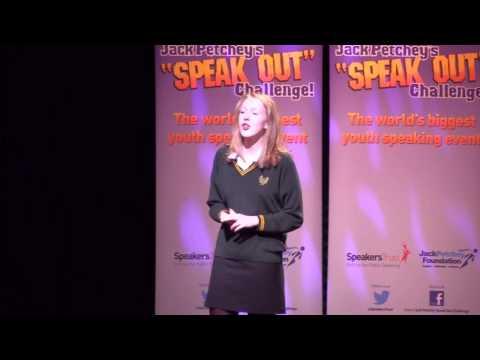 "Artemis Irvine, Champion, ""Speak Out"" Challenge! Grand Final 2014"