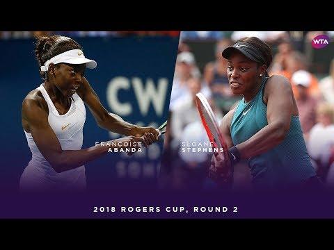 Françoise Abanda vs. Sloane Stephens | 2018 Rogers Cup Round Two | WTA Highlights