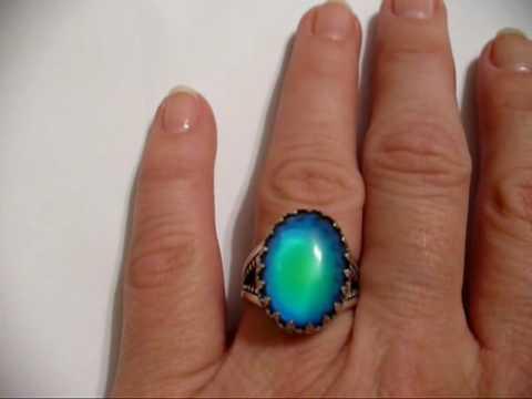 Mood Ring Sterling Sterling Mood Ring Sterling Mood Ring Mood Stone Ring Silver Mood Ring