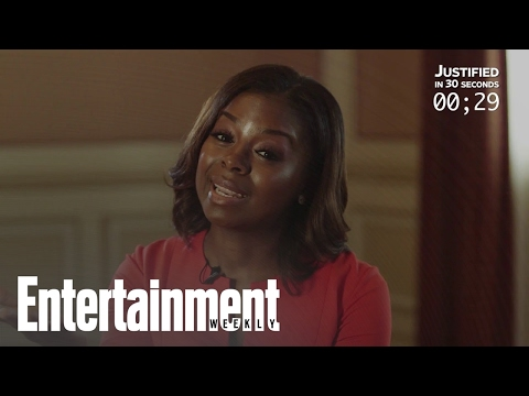 Erica Tazel Recaps 'Justified' In 30 Seconds  Entertainment Weekly