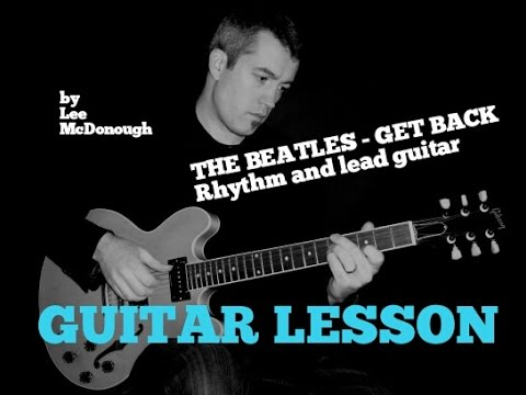 THE BEATLES Guitar Lesson GET BACK Solo And Rhythm Guitar