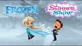 shimmer and shine escape goat episode color disney frozen queen elsa and prince han