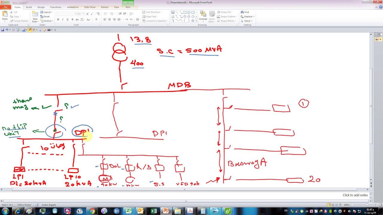 single line diagram calculation iec standard part 1 ecodial [ 1280 x 720 Pixel ]