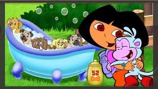 Dora e Botas resgatam os filhotinhos perdidos e dão banho! Venha se divertir nessa aventura incrível