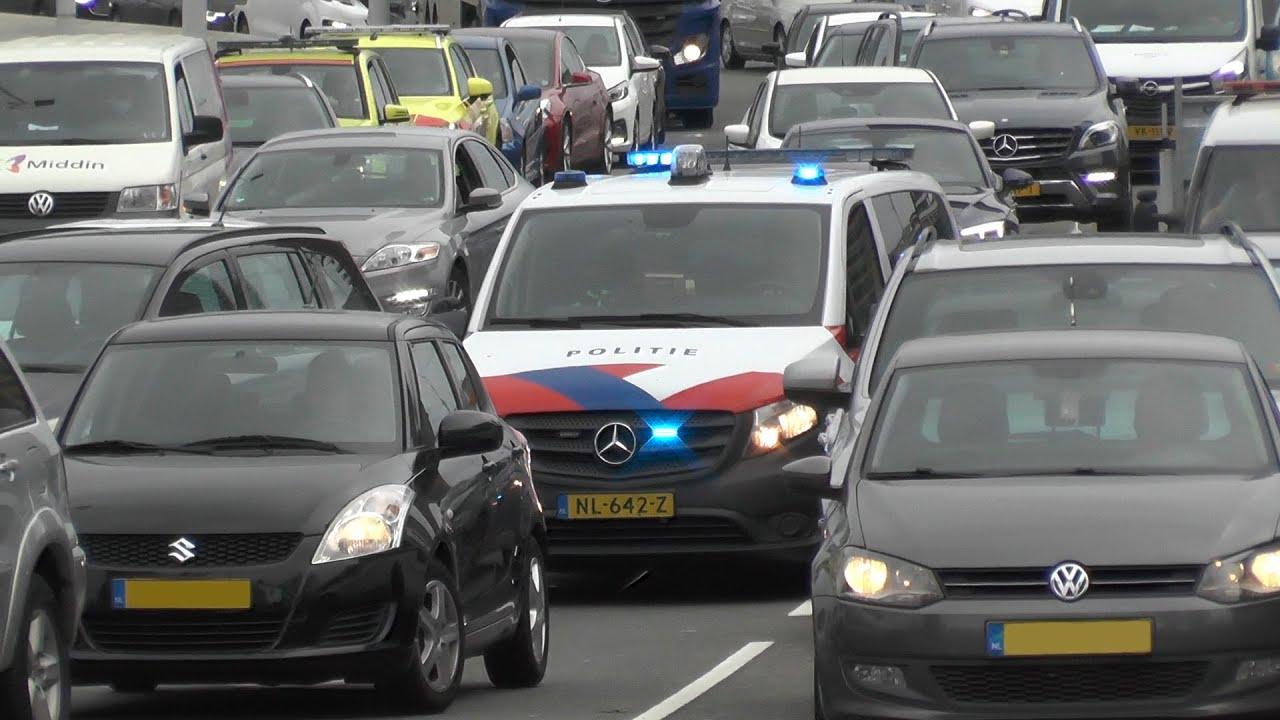 Nieuwe sirene! Politie met spoed wurmt zich door het drukke Rotterdamse verkeer! #1346
