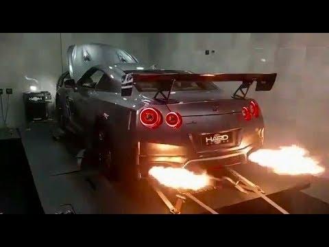 2017 Nissan GT-R Spits 5.1FT BACKFIRE W/ ARMYTRIX Titanium Exhaust On Dyno!