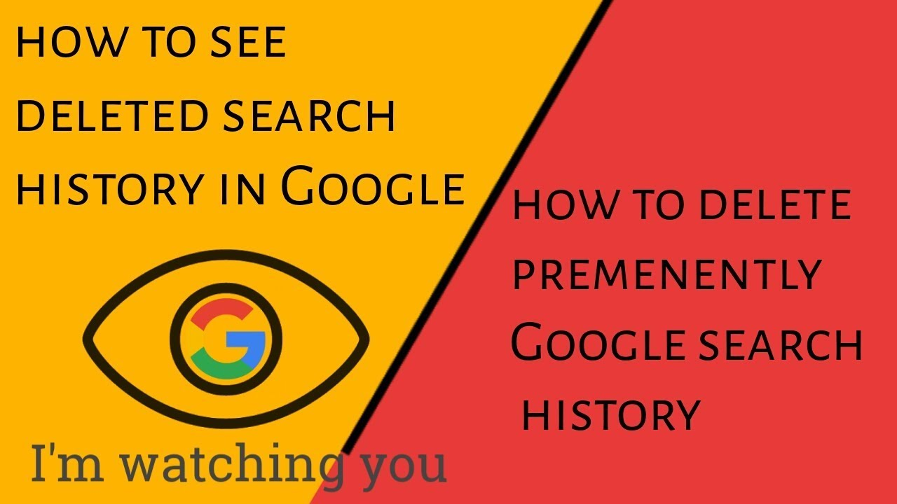 How To See Deleted Search History In Google