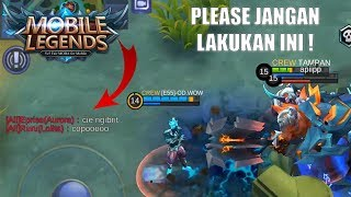 JANGAN SUKA BACIT DI GAME ! - Mobile Legends Indonesia