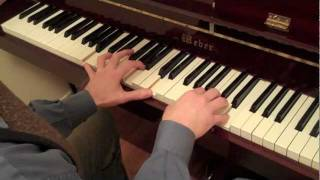 Jazz Piano Lessons: Minor jazz piano II -V-I lick lesson