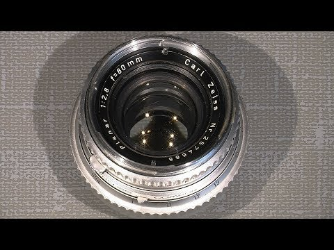 Cleaning front and back lens group in Carl Zeiss Planar 80mm 1:2.8 for Hasselblad