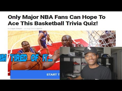 """""""Only Major NBA Fans Can Hope To Ace This Basketball Quiz""""   KOT4Q"""