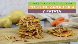 ROSTI DE ZANAHORIA Y PATATA | Tortitas de patata y zanahoria | Guarnición de patata y zanahoria