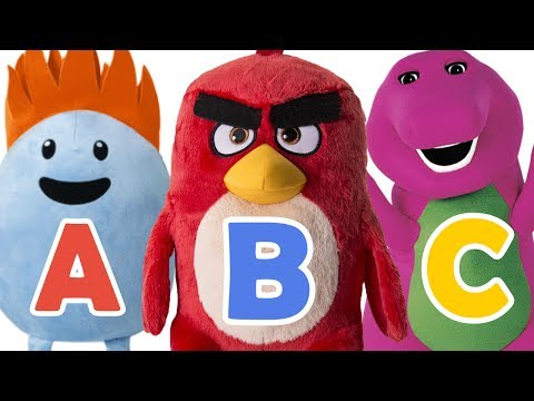 ABC Song | Angry Birds, Barney, Cars 3, Dumb Ways to Die - Alphabet Song Animation