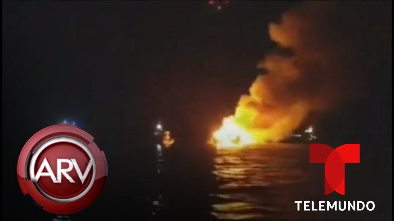 Arde embarcación comercial con decenas de personas a bordo | Al Rojo Vivo |  Telemundo
