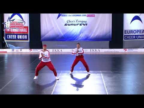 41 SENIOR DOUBLE CHEER HIP HOP Kushchova   Ushakov  CHEER NIKA  UKRAINE
