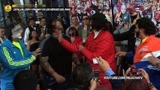 """Bronca entre Cepillín y Pirata Morgan en la Conferencia de Prensa """"Los Héroes del Ring"""""""