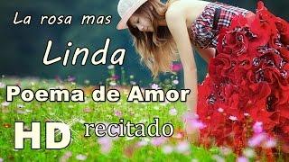 Poema de amor para la mujer que amo ♥ LA ROSA MAS LINDA DE MI JARDIN ♥ Venancio Renteria