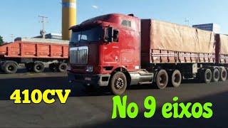 International 9,800 410cv  Pressão no 9 eixo Graneleiro, vida de caminhoneiro