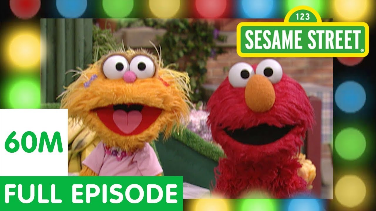 elmo and zoe play the healthy food game