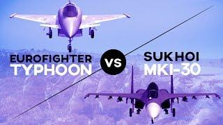 Eurofighter Typhoon contre Sukhoi 30 MKI en 3D