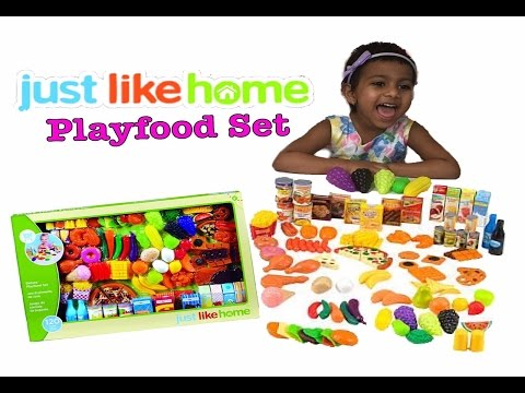 Learn food with Peppa pig JUST LIKE HOME Deluxe Playfood Set ToysReview Pretend & Play toys