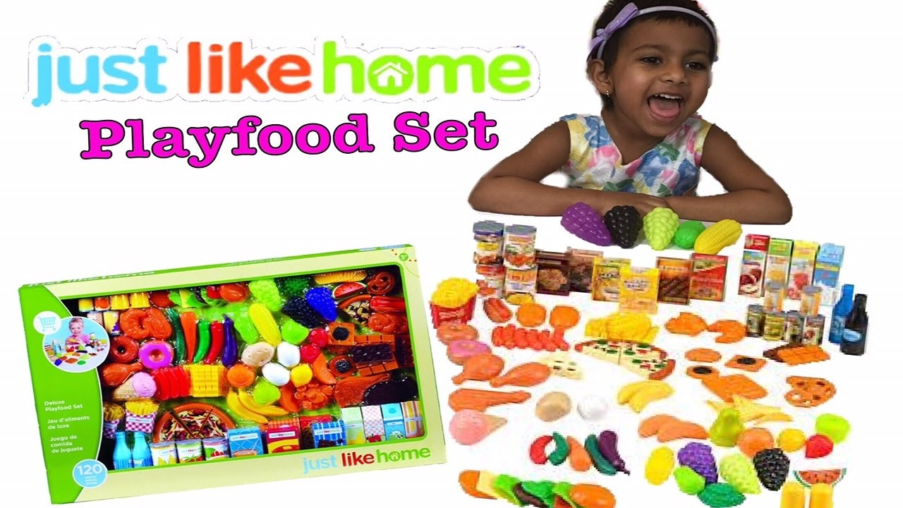 Just Like Home Toy Set : Learn food with peppa pig just like home deluxe playfood