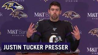 Justin Tucker Full Press Conference Reaction to Game Winner | Baltimore Ravens