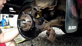 1997 Chevy Blazer driver front ABS Sensor & Wheel Bearing Replacement