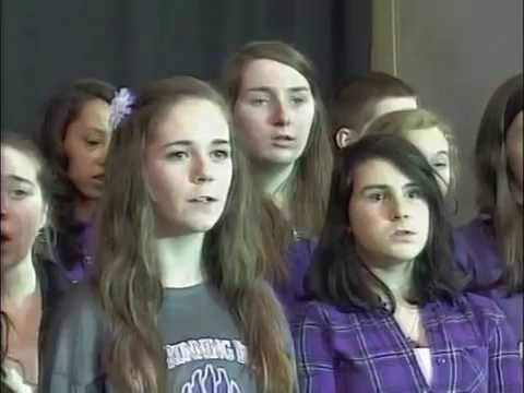 West Running Brook Middle School - US National Anthem - March 7, 2014