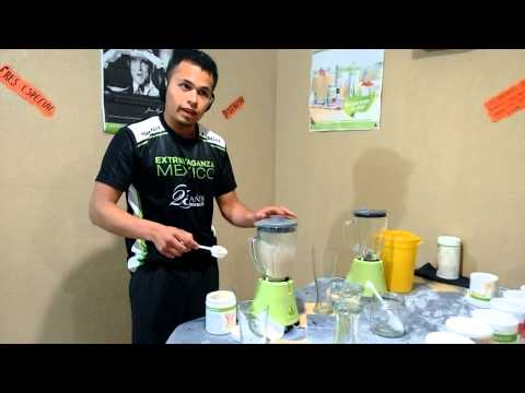 Como Preparar un batido espeso 'HERBALIFE' --( Herbalife® Formula 1 Healthy Meal Nutritional Shake)