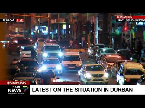 KZN Protests   No police seen in parts of Durban CBD as looting continues: Vusi Khumalo