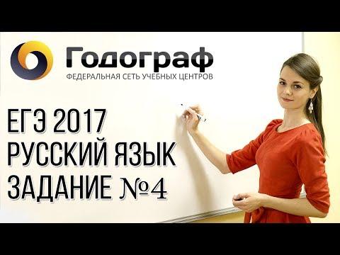 ЕГЭ по русскому языку 2017. Задание №4.