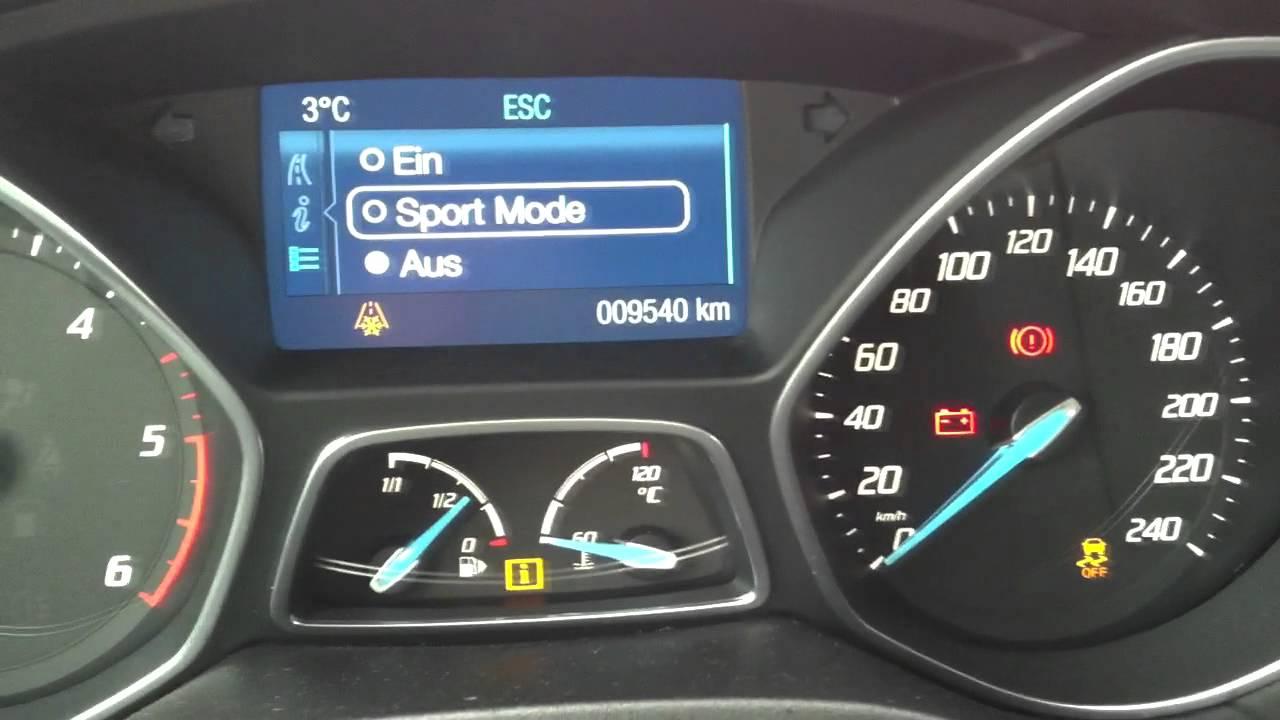 Esp Sport Funktion Ford Focus Mk3 Youtube