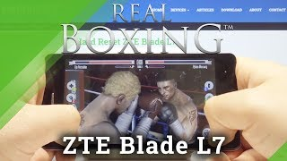 Real Boxing on ZTE Blade L7 – FPS Checkup / Game Test