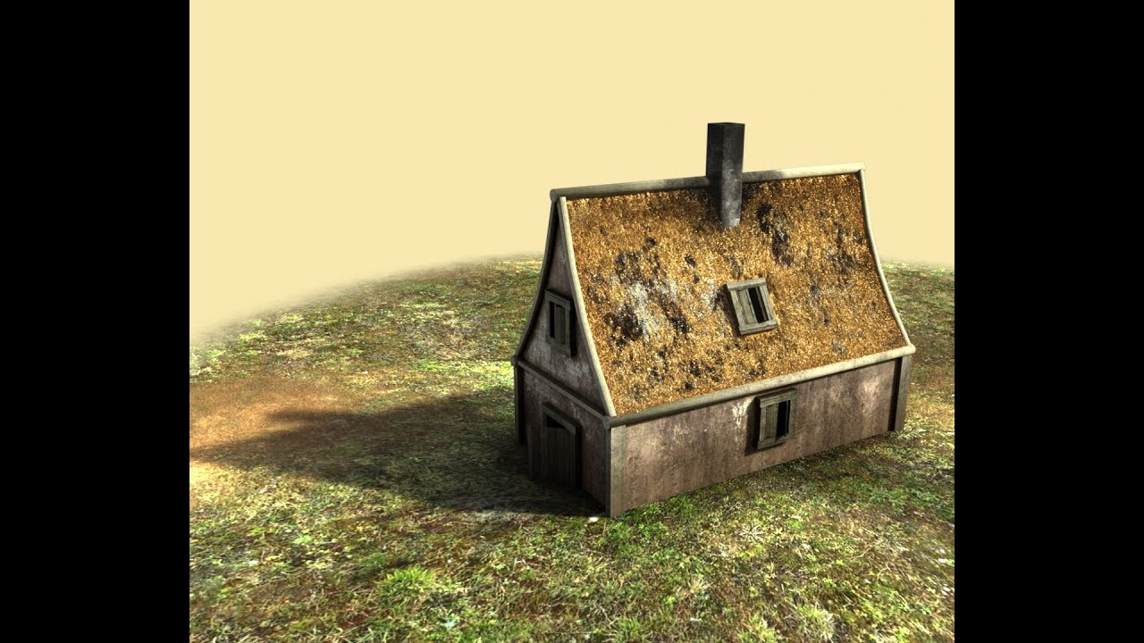 How to create a house game asset in blender part 1 for Classic house tutorial
