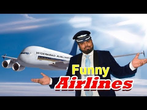 Funny Airlines | hyderabadi comedy | Deccan Drollz