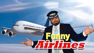 Funny Airlines | hyderabadi comedy | Deccan Drollz