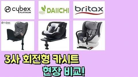 [아빠약사] 브라이택스, 다이치, 싸이벡스(britax, daichi, cybex)회전형 카시트 현장 비교!