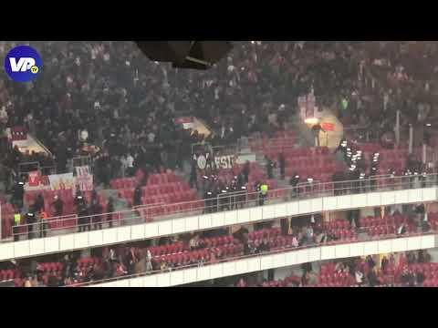 Ongeregeldheden in het uitvak bij Benfica - Ajax