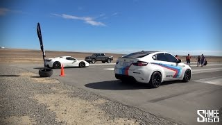 650hp BMW X6 M vs 630hp Ferrari 458 Spider - Shift S3ctor(A BMW X6 M running 650hp and of course all wheel drive, goes head to head with a RWD Ferrari 458 Spider tuned by Evoms to 630hp on the half mile runway ..., 2014-10-31T20:00:01.000Z)