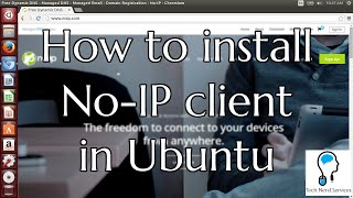 Tutorial: How to install no-ip client in Ubuntu (2015)